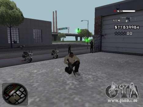 C-HUD White pour GTA San Andreas troisième écran