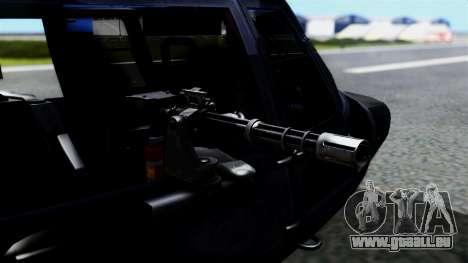 Harbin Z-9 BF4 pour GTA San Andreas sur la vue arrière gauche