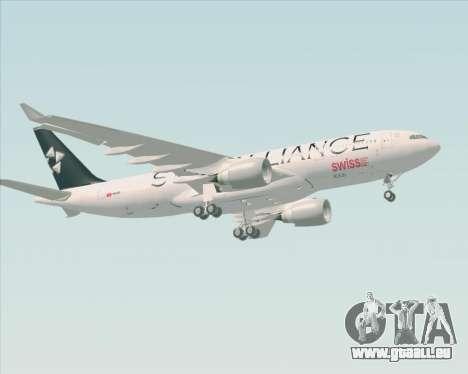 Airbus A330-200 SWISS (Star Alliance Livery) pour GTA San Andreas vue de côté