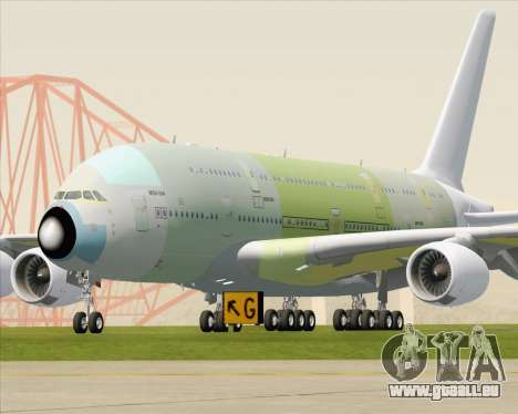 Airbus A380-800 F-WWDD Not Painted pour GTA San Andreas