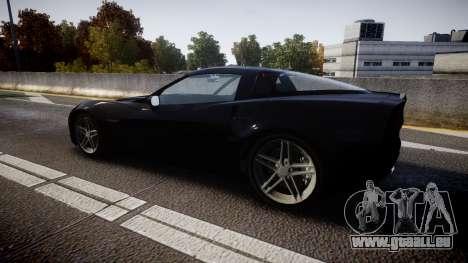 Chevrolet Corvette Z06 Unmarked Police [ELS] pour GTA 4 est une gauche