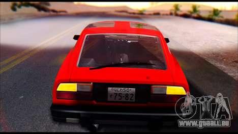 Nissan S130 pour GTA San Andreas vue arrière