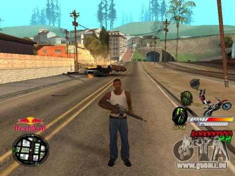 С-HUD RedBull pour GTA San Andreas quatrième écran
