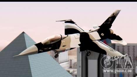 F-16 Aggressor Squadron Alaska Black Camo für GTA San Andreas zurück linke Ansicht