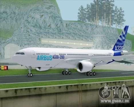Airbus A330-200 Airbus S A S Livery pour GTA San Andreas sur la vue arrière gauche