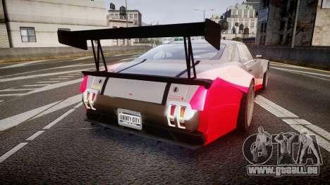 Declasse Sabre GT-R pour GTA 4 Vue arrière de la gauche