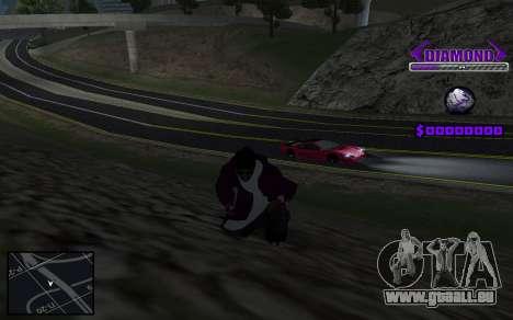 C-HUD Diamond Gangster pour GTA San Andreas troisième écran