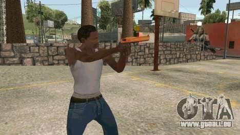 Orange Desert Eagle pour GTA San Andreas troisième écran