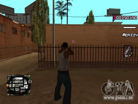 C-HUD WanTed pour GTA San Andreas troisième écran