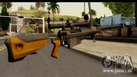 Sinons PGM Ultima Ratio Hecate II pour GTA San Andreas deuxième écran