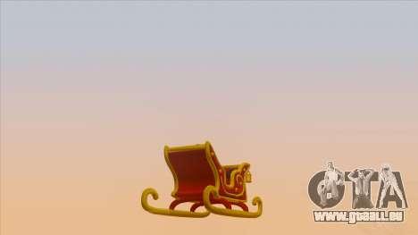Santa Claus Sleigh für GTA San Andreas linke Ansicht