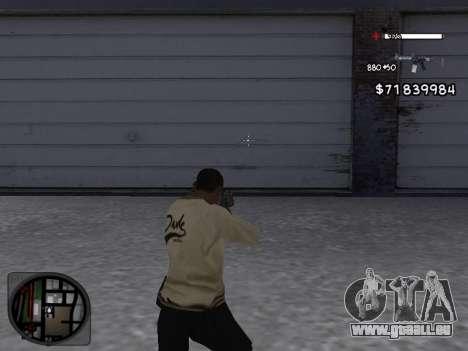 C-HUD White pour GTA San Andreas deuxième écran