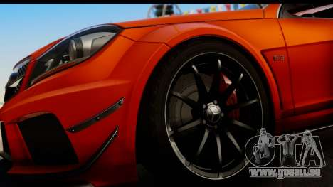 Mercedes-Benz C63 AMG 2012 Black Series pour GTA San Andreas vue intérieure