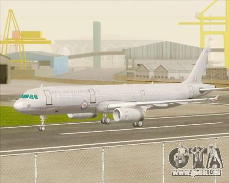 Airbus A321-200 Royal New Zealand Air Force für GTA San Andreas Rückansicht