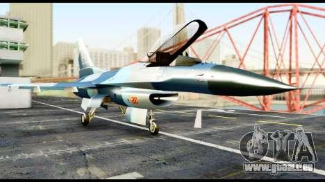 F-16 Aggressor Alaska pour GTA San Andreas vue de droite