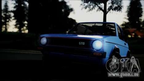 Volkswagen Golf Mk1 GTD pour GTA San Andreas vue de côté