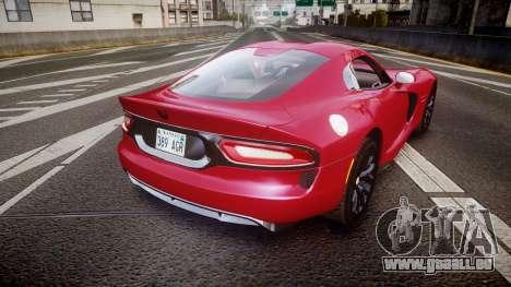 Dodge Viper SRT 2012 für GTA 4 hinten links Ansicht