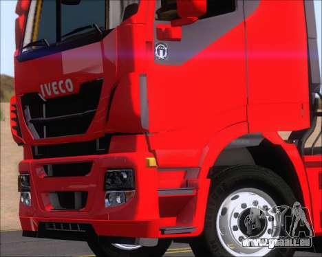 Iveco Stralis HiWay 6x4 für GTA San Andreas Rückansicht