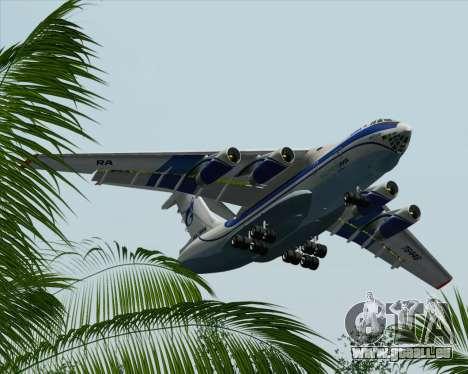 IL-76TD Gazprom Avia für GTA San Andreas Unteransicht
