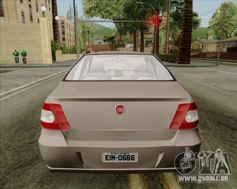 Fiat Siena 2008 pour GTA San Andreas vue arrière