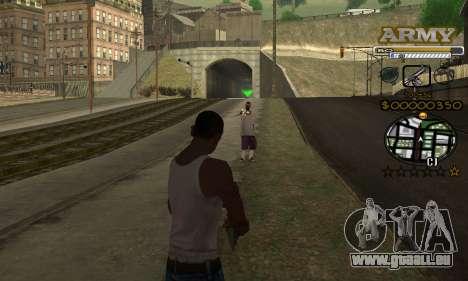 C-HUD Army pour GTA San Andreas quatrième écran