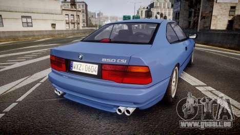 BMW E31 850CSi 1995 [EPM] für GTA 4 hinten links Ansicht