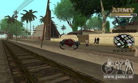 C-HUD Army pour GTA San Andreas cinquième écran