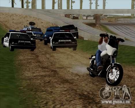 Harley-Davidson FXD Super Glide T-Sport 1999 pour GTA San Andreas vue de côté