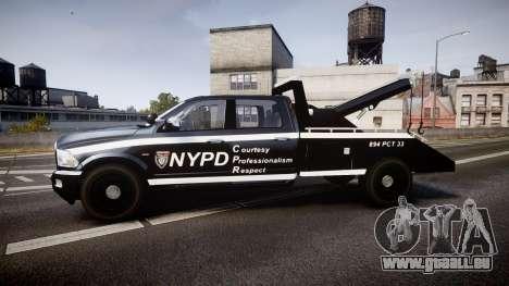 Dodge Ram 3500 NYPD [ELS] für GTA 4 linke Ansicht