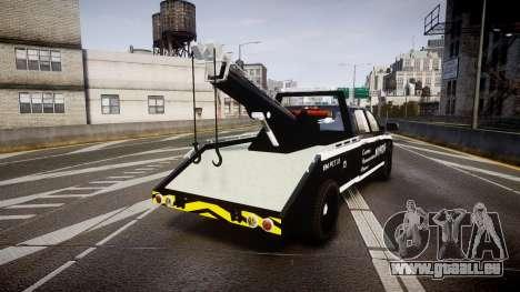 Dodge Ram 3500 NYPD [ELS] für GTA 4 hinten links Ansicht