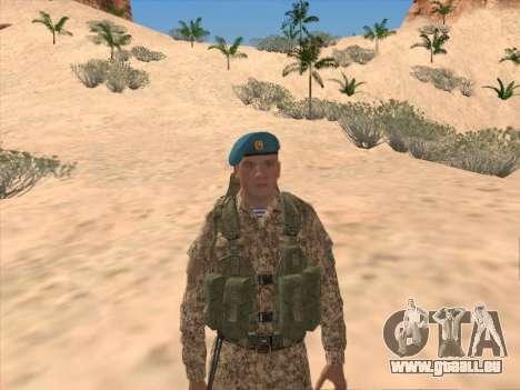 Grenadier des troupes aéroportées de la Fédérati pour GTA San Andreas deuxième écran