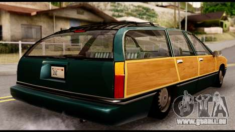 Elegant Station Wagon with Wood Panels für GTA San Andreas linke Ansicht