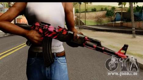 Red Tiger AK47 pour GTA San Andreas troisième écran