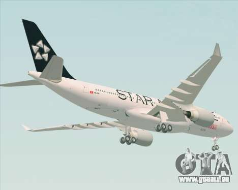 Airbus A330-200 SWISS (Star Alliance Livery) pour GTA San Andreas sur la vue arrière gauche
