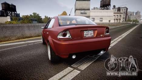 Declasse Premier Sport R pour GTA 4 Vue arrière de la gauche