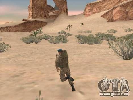 Grenadier des troupes aéroportées de la Fédérati pour GTA San Andreas sixième écran