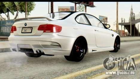 BMW M3 GTS Tuned v1 pour GTA San Andreas vue intérieure