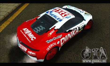 Dinka Jester Racear (GTA V) pour GTA San Andreas vue intérieure