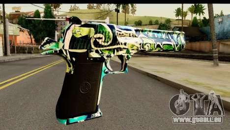 Grafiti Desert Eagle für GTA San Andreas zweiten Screenshot