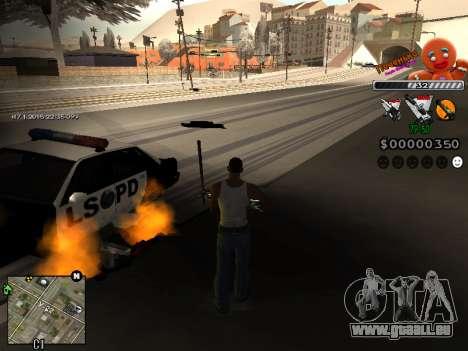 C-HUD Cookie pour GTA San Andreas troisième écran