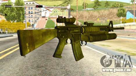 Assault Rifle from Global Ops: Commando Libya pour GTA San Andreas deuxième écran