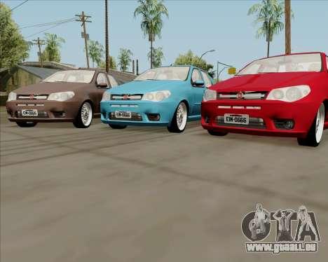 Fiat Siena 2008 pour GTA San Andreas sur la vue arrière gauche