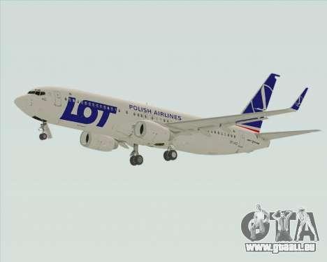 Boeing 737-800 LOT Polish Airlines für GTA San Andreas Rückansicht