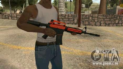 Orange M4A1 für GTA San Andreas