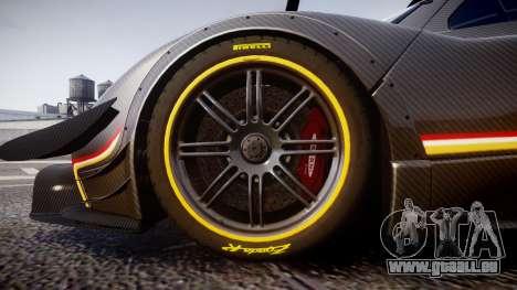Pagani Zonda Revolution 2013 für GTA 4 Rückansicht