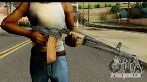 L'AKS-74 en Bois clair pour GTA San Andreas troisième écran