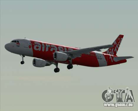 Airbus A320-200 Indonesia AirAsia pour GTA San Andreas vue de dessous