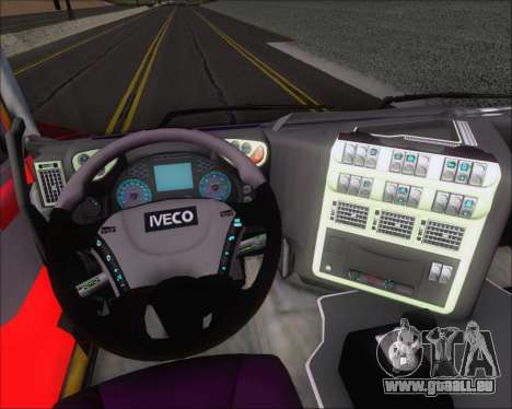 Iveco Stralis HiWay 6x4 für GTA San Andreas obere Ansicht