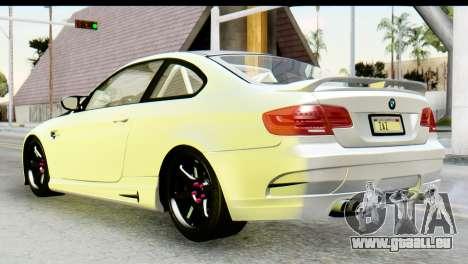 BMW M3 GTS Tuned v1 pour GTA San Andreas laissé vue