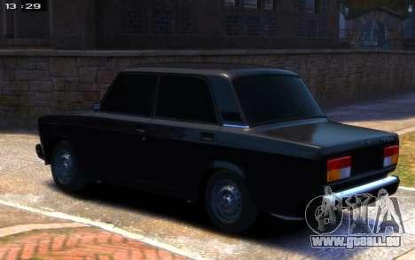 VAZ 2107 R13 pour GTA 4 est une gauche